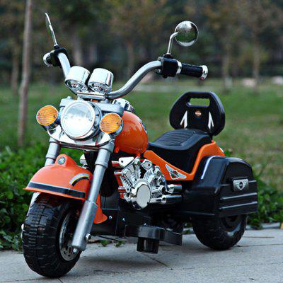 Safe Kid 6V Motorcycle 3 Wheel Max. 3 Km/h Electric Powered Music Light Autocycle Birthday Gift