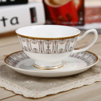 European Style Bone China Tea Cup and Saucer Set
