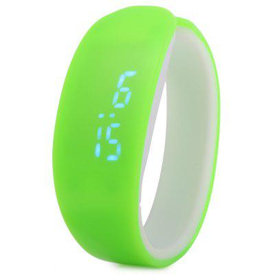 Jijia Dolphin Shape Dial Blue Digital Date LED Watch Candy Color