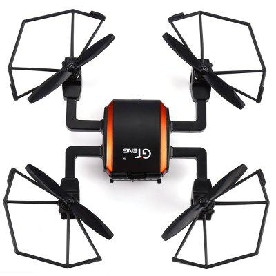 GTeng T901F 5.8GHz FPV 2.0MP 2.4GHz 4 Channel 6 Axis Gyro Quadcopter One Key Automatic ReturnRC Quadcopters<br>GTeng T901F 5.8GHz FPV 2.0MP 2.4GHz 4 Channel 6 Axis Gyro Quadcopter One Key Automatic Return<br><br>Battery: Built-in rechargeable battery<br>Brand: GTeng<br>Built-in Gyro: Yes<br>Channel: 4-Channels<br>Control Distance: 100-300m<br>Detailed Control Distance: 150m<br>Features: 5.8G FPV<br>Flying Time: 6-8mins<br>FPV Distance: 100m<br>Functions: Camera, With light, Up/down, Turn left/right, 3D rollover, Forward/backward, FPV, Headless Mode, One Key Automatic Return, Sideward flight, Slow down, Speed up<br>Kit Types: RTF<br>Level: Beginner Level<br>Material: Plastic, Electronic Components<br>Mode: Mode 2 (Left Hand Throttle)<br>Night Flight: Yes<br>Package Contents: 1 x Quadcopter, 1 x Transmitter, 1 x 4 GB SD Card, 1 x Card Reader, 4 x Spare Blade, 2 x USB Charging Cable, 1 x Screwdriver<br>Package size (L x W x H): 42.00 x 24.00 x 10.00 cm / 16.54 x 9.45 x 3.94 inches<br>Package weight: 0.770 kg<br>Product size (L x W x H): 16.50 x 16.50 x 4.00 cm / 6.5 x 6.5 x 1.57 inches<br>Product weight: 0.068 kg<br>Radio Mode: Mode 2 (Left-hand Throttle)<br>Remote Control: 2.4GHz Wireless Remote Control<br>Type: Quadcopter