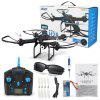 JJRC H28C 2 Mega Camera 2.4G 4CH 6 Axis Gyro Quadcopter One Key Automatic Return with Light RTF - BLACK