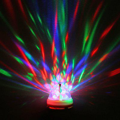 E27 LED Auto Rotating Bulb USB RGB Portable Crystal Stage Light