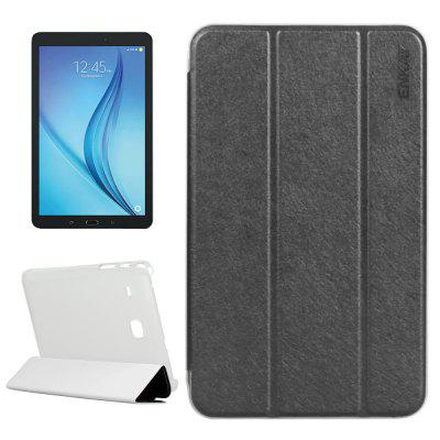 ENKAY 8.0 inch Silk Grain PU Leather Protective Case with Stand Function for Samsung Galaxy Tab E T377 / T375