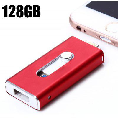 3 in 1 Retractable 128GB USB 3.0 Flash Drive
