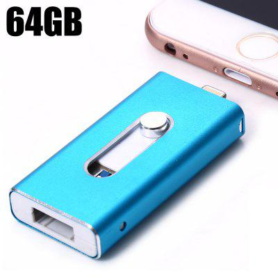 3 in 1 Retractable 64GB USB 3.0 Flash Drive