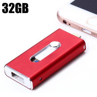 3 in 1 Retractable 32GB USB 3.0 Flash Drive