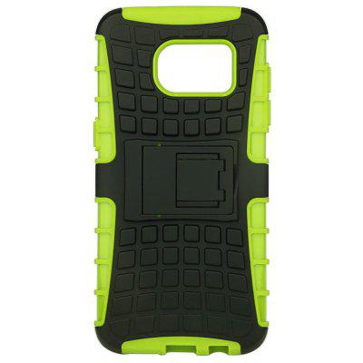 Tire Style PC TPU Back Cover Case with Stand for Samsung S7