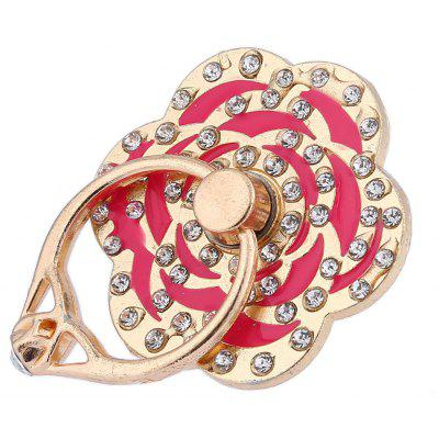 Adjustable Ring Style Phone Stand for Mobile Phone Rose Style