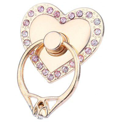 Adjustable Ring Style Phone Stand for Mobile Phone Heart Style