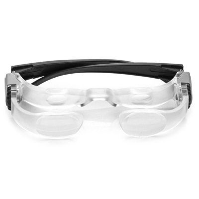 7102L 2.1X Glasses Style MagnifierMagnifiers<br>7102L 2.1X Glasses Style Magnifier<br><br>Magnification: 2.1X<br>Model: 7102L<br>Optional Color: Black<br>Package Contents: 1 x 2.1X Magnifier<br>Package size (L x W x H): 17.00 x 11.00 x 6.50 cm / 6.69 x 4.33 x 2.56 inches<br>Package weight: 0.200 kg<br>Product size (L x W x H): 14.00 x 19.00 x 3.00 cm / 5.51 x 7.48 x 1.18 inches<br>Product weight: 0.045 kg