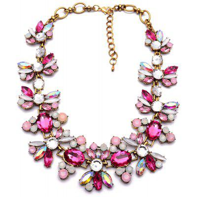 WQ039 Delicate Rhinestone Flower Necklace for Women