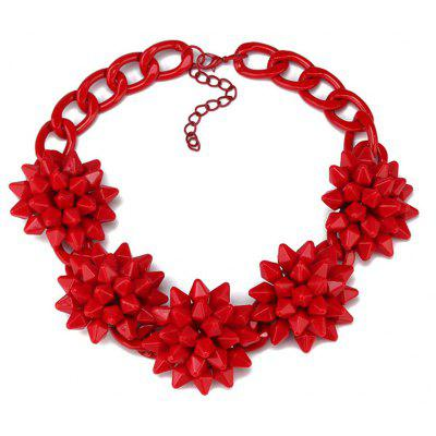 WQ034 Stylish Red Flower Design Necklace for Women