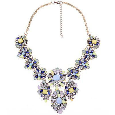 WQ033 Luxury Rhinestone Flower Design Necklace for Women