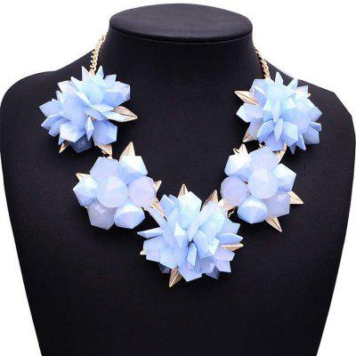 WQ027 Stylish Candy Color Rhinestone Necklace for Women
