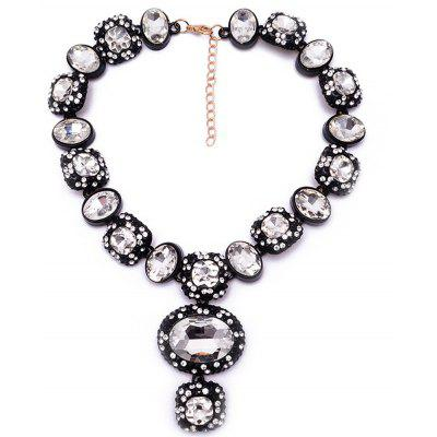 WQ017 Shiny Rhinestone Pendant Necklace for Women
