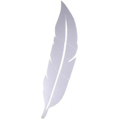 80 x 20cm Acrylic Plume Mirror Wall Sticker