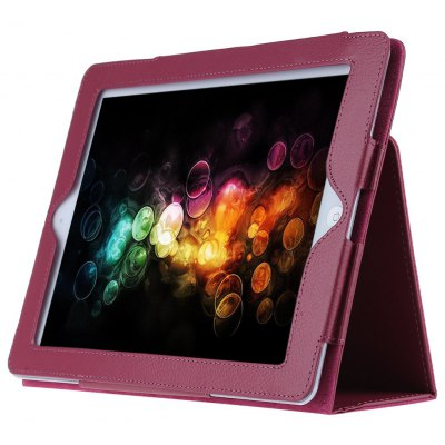 Lychee Lines Protective Case with Holder for iPad 2 / 3 / 4