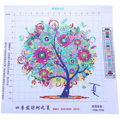 45 x 45cm Pachira Tree Cross Stitch Kit Embroidery Set