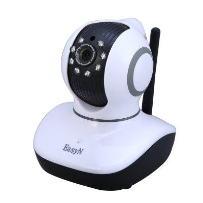 EasyN Mini 10D 1.0MP H.264 CMOS IR-CUT Wireless IP Camera Support TF Card with Pan / Tilt Night Vision EU Plug -  100 - 240V