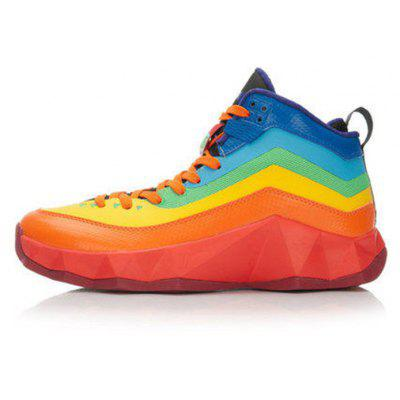 d8bcfe131b1f42 LI-NING Men Rainbow High-top Basketball Sneakers