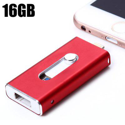3 in 1 Retractable 16GB USB 3.0 Flash Drive