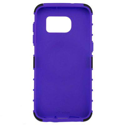 Tire Style PC TPU Back Cover Case with Stand for Samsung S7 Edge 4good style r407