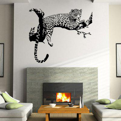 PVC Leopard Wall Stickers Removable Water Resistant Decal