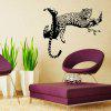 PVC Leopard Wall Stickers Removable Water Resistant Decal - BLACK