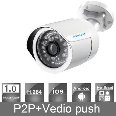 SN - 7004A Night Vision IP Camera H.264 720P Waterproof with Video Push Function