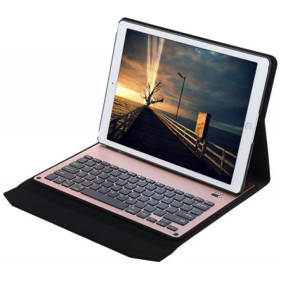 Bluetooth Keyboard PU Leather Cover with Stand for iPad Pro