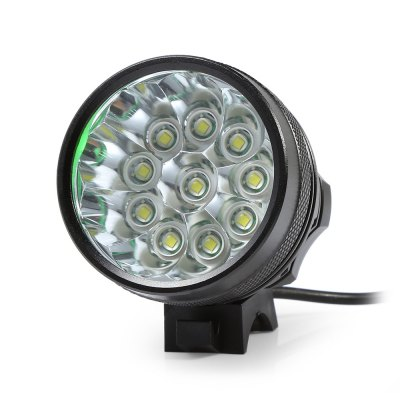 Marsing 8.4V 3 Modes 10 LED Cree XML T6 Bicycle LightHeadlights<br>Marsing 8.4V 3 Modes 10 LED Cree XML T6 Bicycle Light<br><br>Color: Black<br>Features: Superbright, Easy to Install<br>LED Quantity: 10<br>Luminance: 2600 - 2800 lumens<br>Material: Aluminum Alloy<br>Package Contents: 1 x Bicycle Lamp Head, 1 x Battery Set, 1 x Battery Pouch, 2 x Lamp Belt, 2 x O-ring, 1 x Charger Adapter<br>Package Dimension: 20.00 x 18.00 x 6.00 cm / 7.87 x 7.09 x 2.36 inches<br>Package weight: 0.6000 kg<br>Placement: Handlebar<br>Product Dimension: 5.60 x 5.50 x 5.50 cm / 2.2 x 2.17 x 2.17 inches<br>Product weight: 0.4800 kg<br>Suitable for: Cross-Country Cycling, Fixed Gear Bicycle, Mountain Bicycle, Road Bike, Touring Bicycle<br>Type: Front Light<br>Working Time: 4 - 5 hours