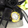 JUBAOLI 1106 Female Bracelet Butterfly Knot Lace Quartz Watch - BLACK