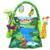 Baby Rainforest Music Game Blanket with Fitness Rack - GREEN