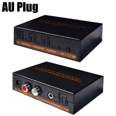 T31 Digital to Analog Audio Decoder 3 x 1 Splitter
