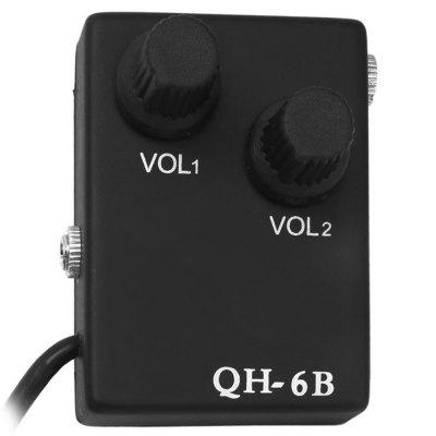 QH - 6B Magnetic Preamp 12-hole Sound Pickup Tie Clip Microphone Audio Cable Set for Acoustic GuitarGuitar Parts<br>QH - 6B Magnetic Preamp 12-hole Sound Pickup Tie Clip Microphone Audio Cable Set for Acoustic Guitar<br><br>Materials: Metal, Plastic<br>Package Contents: 1 x Guitar Pickup, 1 x Connecting Cable, 1 x Microphone<br>Package size: 15.00 x 11.00 x 5.00 cm / 5.91 x 4.33 x 1.97 inches<br>Package weight: 0.220 kg<br>Product size: 13.50 x 10.00 x 4.00 cm / 5.31 x 3.94 x 1.57 inches<br>Suitable for: Acoustic Guitar<br>Type: Pickup