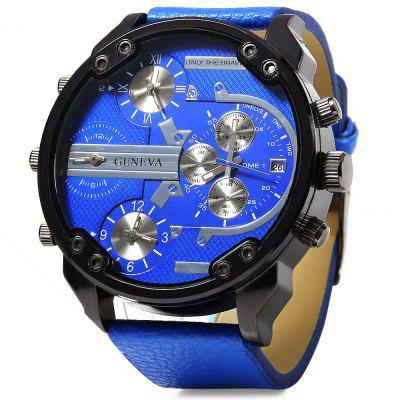 Geneva 448 Multi-movt Date Function Men Quartz Watch