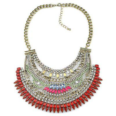 WQ056 Delicate Acrylic Rhinestone Female Necklace