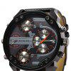 Geneva 448 Multi-movt Date Function Men Quartz Watch - BLACK