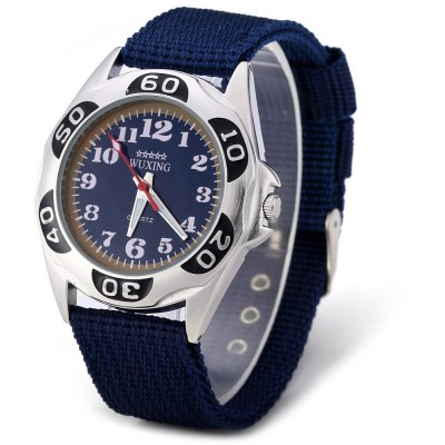 WUXING SG1272 Double Scale Men Quartz Watch Nylon Band