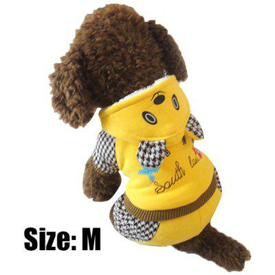 Cartoon Bear Pattern Pet Dog Cotton Coat