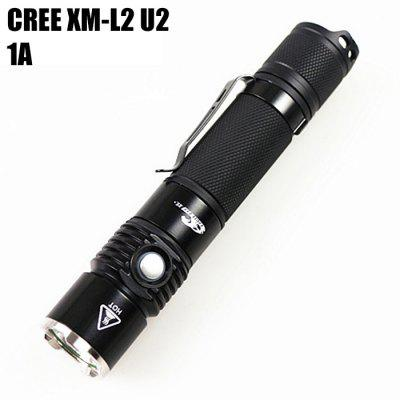 Eagle Eye X5R Cree XM - L2 U2 1A 1000Lm Rechargeable LED Flashlight Clip
