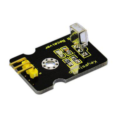Keyestudio IR Digital Receiver Module for ArduinoTransmitters &amp; Receivers module<br>Keyestudio IR Digital Receiver Module for Arduino<br><br>Architecture: Arduino, Arduino<br>Brand: Keyestudio, Keyestudio<br>Mainly Compatible with: Ardunio, Ardunio<br>Material: FR4, FR4<br>Package Contents: 1 x Keyestudio Digital IR Receiver Module, 1 x Keyestudio Digital IR Receiver Module<br>Package Size(L x W x H): 16.00 x 16.00 x 2.00 cm / 6.3 x 6.3 x 0.79 inches, 16.00 x 16.00 x 2.00 cm / 6.3 x 6.3 x 0.79 inches<br>Package weight: 0.027 kg, 0.027 kg<br>Product Size(L x W x H): 3.40 x 2.00 x 1.30 cm / 1.34 x 0.79 x 0.51 inches, 3.40 x 2.00 x 1.30 cm / 1.34 x 0.79 x 0.51 inches<br>Product weight: 0.005 kg, 0.005 kg<br>Transmission Type: Infrared, Infrared