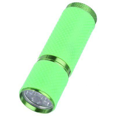 Mini 9 LED Purple Light Nail Art Flashlight