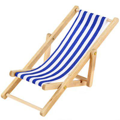 1/12 Miniature Foldable Wooden Deckchair