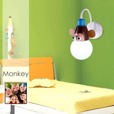 Cartoon Monkey LED Wall Light Kids Bedroom Kindergarten