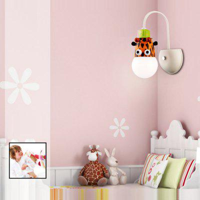 Cartoon Giraffe LED Wall Light Kids Bedroom Kindergarten