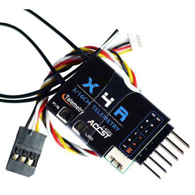 Buy BLACK Frsky X4R SB 2.4G 3 / 16 Channel Receiver with Smart Port SBUS Accessory for RC Hobby for $32.07 in GearBest store