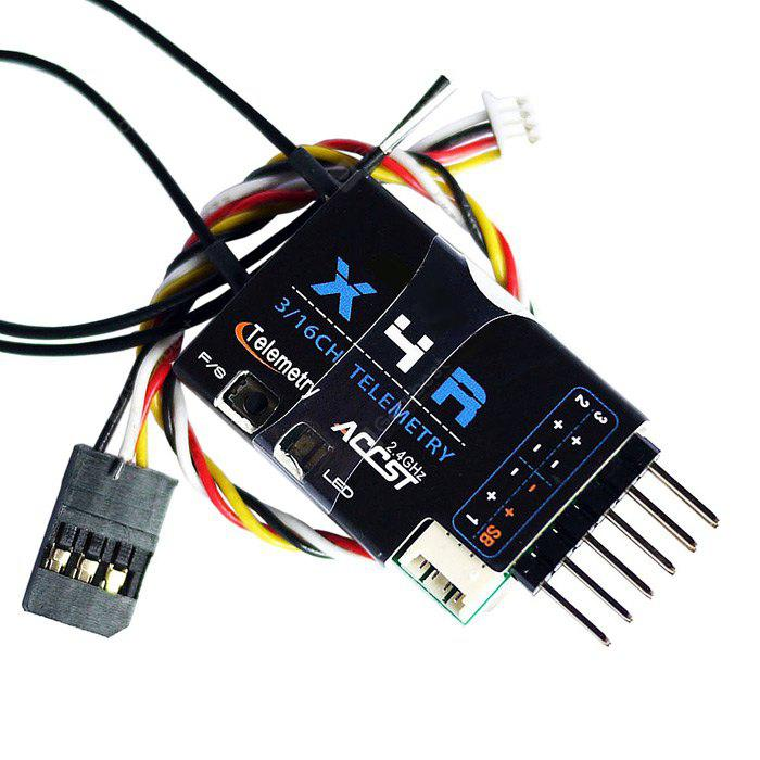 BLACK Frsky X4R SB 2.4G 3 / 16 Channel Receiver with Smart Port SBUS Accessory for RC Hobby