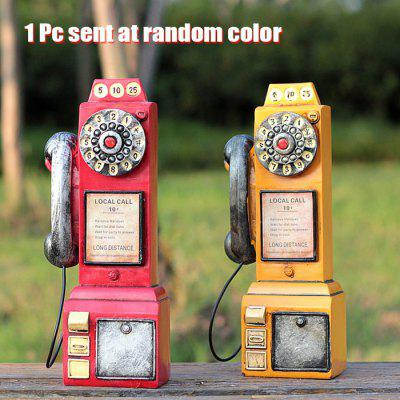 Lovely Retro Payphone Design Coin Saving Box Perfect Gift for Kid