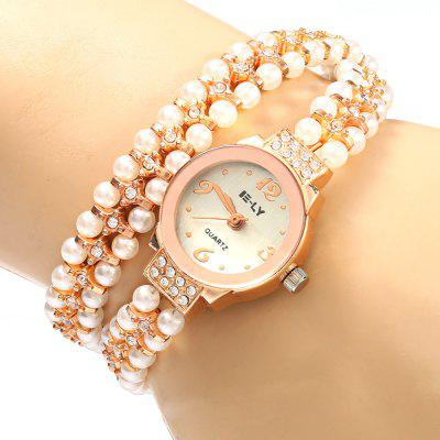 IE-LY 629 Women Pearl Diamond Quartz Watch